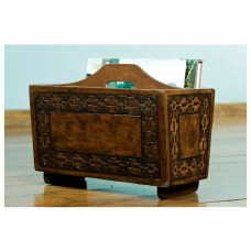 Novica Inca Link Leather Magazine Rack NVC6873