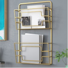 Rebrilliant Modern 2-Tier Wall Mounted Magazine Rack REBR4388