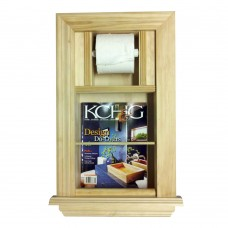 WG Wood Products Recessed Magazine Rack and Toilet Paper Holder WGWP1019