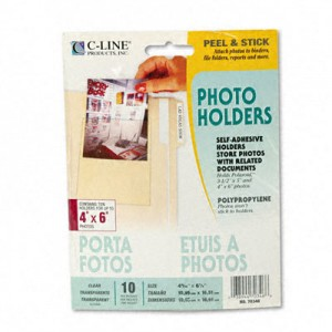C-LINE PRODUCTS, INC                               Peel Stick Photo Holders for 3X5 4 X 6 Photos (10/Pack) UBH1110