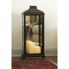 Melrose Intl. Mirror Metal/Glass Lantern MRI1303