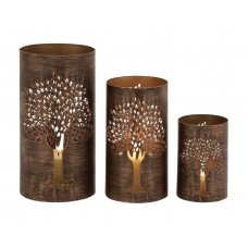 World Menagerie The Exceptional 3 Piece Metal Hurricane Set WLDM1183