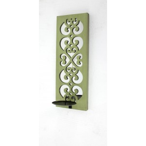 Teton Home Traditional Metal Sconce Candle with Mirror TTHE1266