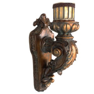 World Menagerie Rusted Wall Sconce Candle Holder WDMG1783