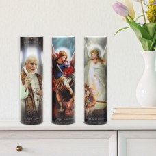 CKK Home Décor, LP The Saints Pillar Candle CKKH1308