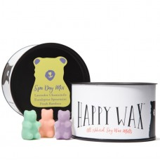 Happy Wax Lavender Chamomile, Eucalyptus Spearmint, Fresh Bamboo Spa Day Mix Scented Wax Melt Candle DUVD1050