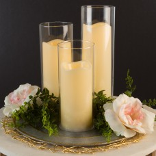 Symple Stuff 4 Piece Glass Flameless Candle Set LVRG2176
