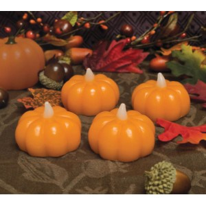 The Holiday Aisle Wax Dipped Mini Pumpkins Unscented Flameless JQHT1110
