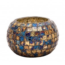Bloomsbury Market Mosaic Glass Votive Holder BLMT8679