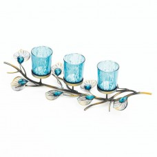 Bloomsbury Market Peacock Inspired Trio Iron Votive Holder BLMT6667