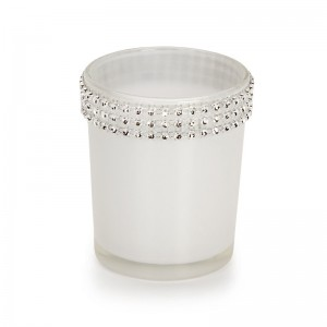 David Tutera Rhinestone Trim Glass Votive Holder CBGY1020