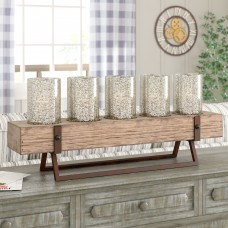 Laurel Foundry Modern Farmhouse Wood Hurricane LRFY2126