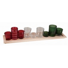 The Holiday Aisle 10 Piece Glass Votive Holder Set THLA7784
