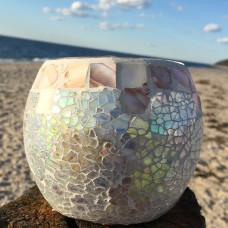 WholeHouseWorlds Beach Glass Votive WHWO1068