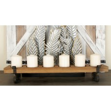 Cole Grey Wood and Metal Candelabra CLRB2521