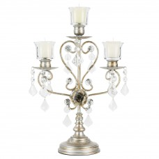 Rosdorf Park Daina Antique 3 Light Glass Candelabra ROSP2923