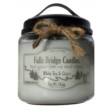 FallsBridgeCandles White Tea and Ginger Scented Jar Candle FLBG1143