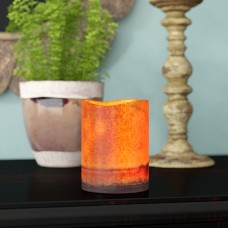 World Menagerie Flameless Pillar Candle WRMG3008