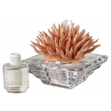 5th Ave Store Debora Carlucci Italian Decorative Crystal Aroma Diffuser with Porcelain Coral Top TAVE1042