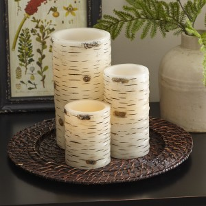 Birch Lane™ Birch Bark Flameless Pillar Candle BL9889