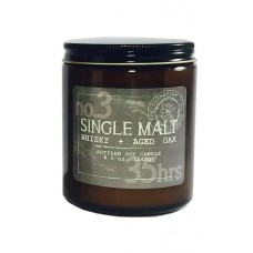 The Therapist Candles Single Malt Whisky and Aged Oak Scent Jar Candle TPST1004