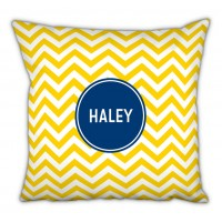 Boatman Geller Chevron Block Personalized Cotton Throw Pillow TBMG1358