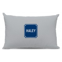Boatman Geller Herringbone Block Personalized Cotton Lumbar Pillow TBMG1349