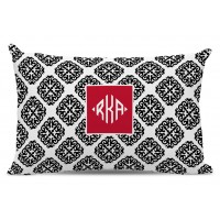 Chatsworth Marakesh Diamond Monogram Cotton Lumbar Pillow TBMG1841