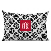 Chatsworth Marakesh Script Monogram Cotton Lumbar Pillow TBMG1842