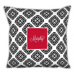 Chatsworth Marakesh Script Personalized Cotton Throw Pillow TBMG1352
