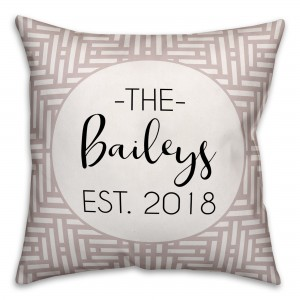 Ebern Designs Boell Personalized Outdoor Throw Pillow DDCG5689