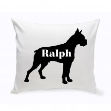 JDS Personalized Gifts Personalized Boxer Silhouette Throw Pillow JMSI2439