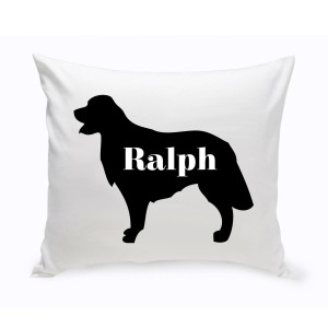 JDS Personalized Gifts Personalized Golden Retriever Silhouette Throw Pillow JMSI2440