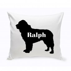 JDS Personalized Gifts Personalized Newfoundland Silhouette Throw Pillow JMSI2462