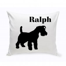JDS Personalized Gifts Personalized Scottish Terrier Classic Silhouette Throw Pillow JMSI2524