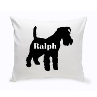 JDS Personalized Gifts Personalized Scottish Terrier Silhouette Throw Pillow JMSI2447