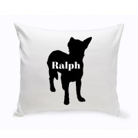 JDS Personalized Gifts Personalized Shorthair Chihuahua Silhouette Throw Pillow JMSI2434