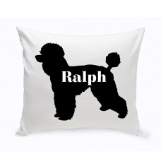 JDS Personalized Gifts Personalized Toy Poodle Silhouette Throw Pillow JMSI2453