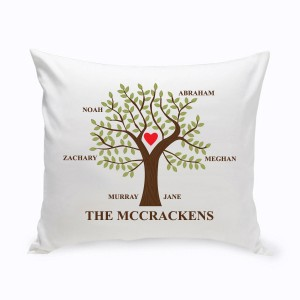 JDS Personalized Gifts Personalized Traditional Family Tree Cotton Throw Pillow JMSI2686