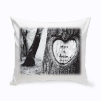 JDS Personalized Gifts Personalized Tree of Love Cotton Throw Pillow JMSI2682