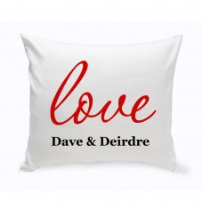 JDS Personalized Gifts Personalized Unity Amore Cotton Throw Pillow JMSI2693