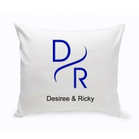 JDS Personalized Gifts Personalized Unity Modern Cotton Throw Pillow JMSI2695