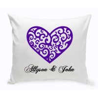 JDS Personalized Gifts Personalized Unity Vintage Heart Cotton Throw Pillow JMSI2690