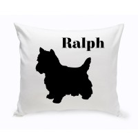 JDS Personalized Gifts Personalized Yorkshire Terrier Classic Silhouette Throw Pillow JMSI2506