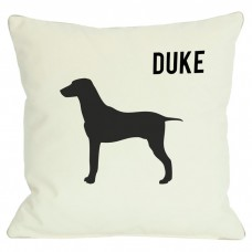 Monogrammed Personalized Large Breed Throw Pillow MONO1047
