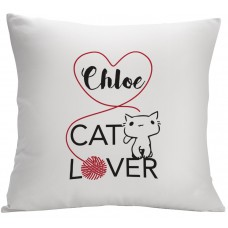 Monogramonline Inc. Personalized Cat Lover Decorative Pillow Cushion Cover MOOL1074