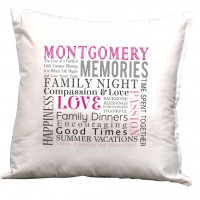 Monogramonline Inc. Personalized Family Decorative Pillow Cushion Cover MOOL1031