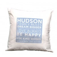 Monogramonline Inc. Personalized Family Rules, Dream Bigger Decorative Pillow Cushion Cover MOOL1021