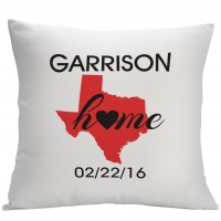 Monogramonline Inc. Personalized State Design Decorative Pillow Cushion Cover MOOL1169