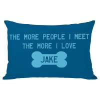 One Bella Casa Personalized More People Lumbar Pillow HMW2265